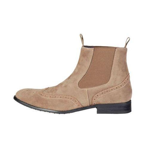 Buty do kostki botki męskie PIERRE CARDIN -ZD3711-78, kolor brązowy