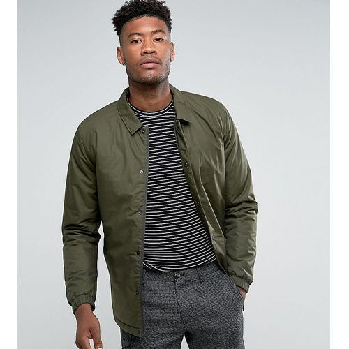 Selected homme  tall padded coach jacket - green