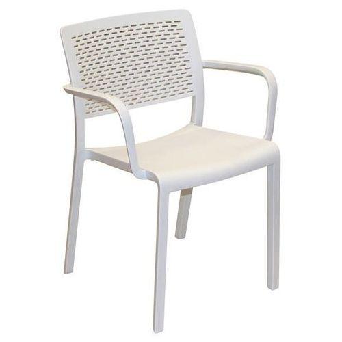 Krzesło z podłokietnikami Trama - biały, kolor biały
