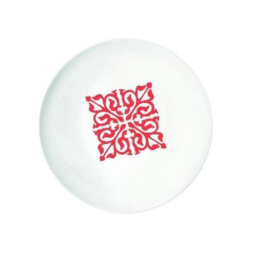 Guzzini - tiffany - talerz głęboki le maioliche, czerwony (8008392295112)