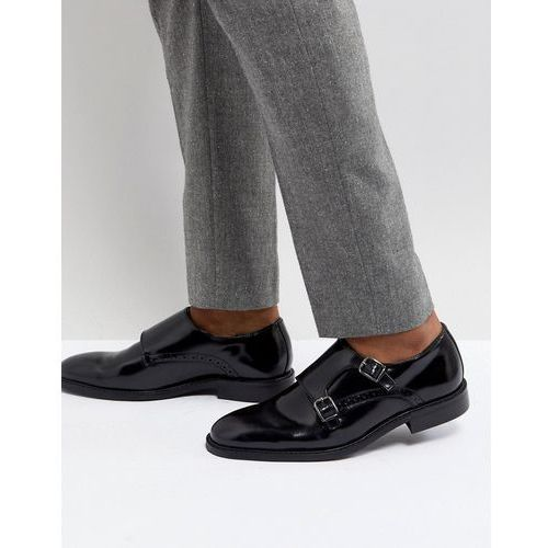 monk shoes in black leather - black marki Dune