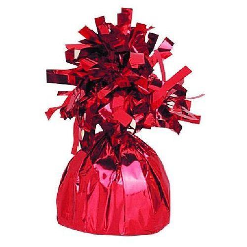 Obciążnik foliowy do balonów napełnionych helem - czerwony - 176 g.