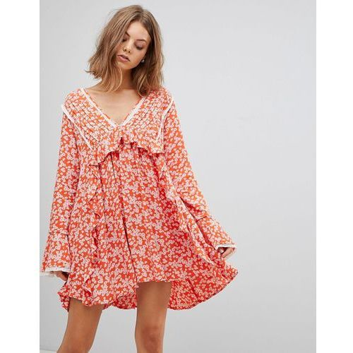 Free People Like You Best Printed Mini Dress - Red