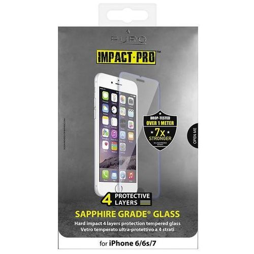 PURO Sapphire Tempered Glass - Szkło ochronne hartowane na ekran iPhone 7 / iPhone 6s / iPhone 6 (8033830188312)