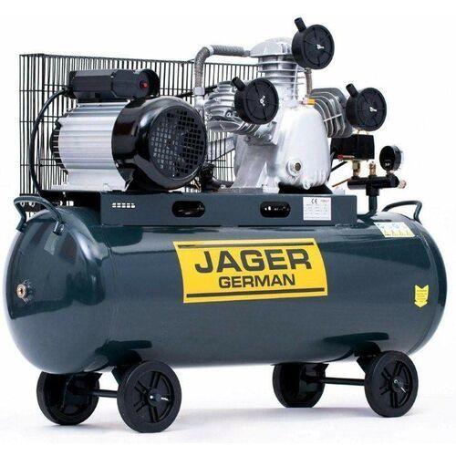 Jager german Sprężarka powietrza tłokowa kompresor tłokowy olejowy 100l 8bar 540l/min 400v zwiększona wydajność mocna rzecz