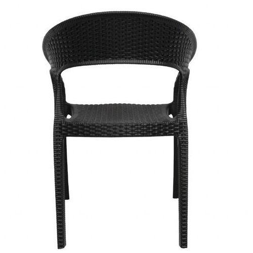 Krzesło z podłokietnikami | czarne | 440mm | 4 szt., kolor czarny