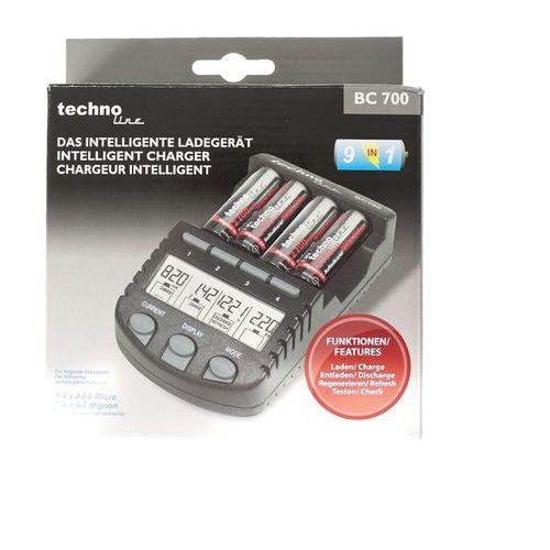 Mikroprocesorowa ładowarka bc-700 do akumulatorów nicd oraz nimh marki Technoline