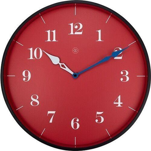 Zegar ścienny czerwony Arthur nXt 40 cm (7330), kolor czerwony