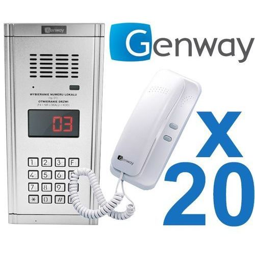 Zestaw domofonowy 20 rodzinny WL-03NL, ZD2496