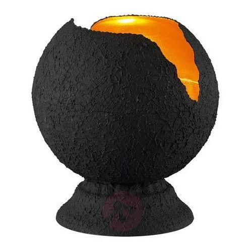 Trio leuchten Czarno-złota lampa stołowa eva (4017807286489)