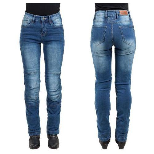 Damskie jeansowe spodnie motocyklowe lustipa, niebieski, xxl marki W-tec