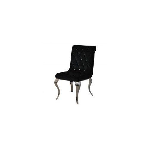 Krzesło glamour hamilton black - nowoczesne krzesła pikowane kryształkami marki Bellacasa