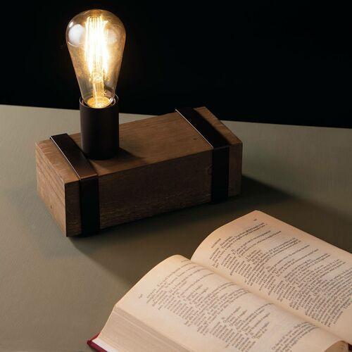 Lampa stołowa teksas z drewna antycznego, 1-pkt. marki Eco-light