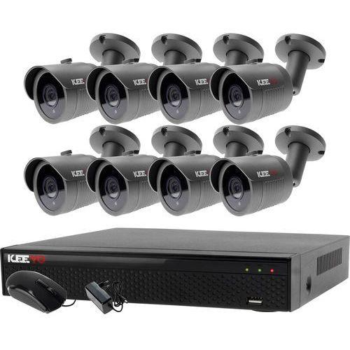 Keeyo Zestaw do monitoringu zewnętrzne kamery 8 x lv-al30ht + rejestrator lv-xvr84n-ii