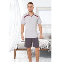 Piżama M-Max Olo Big 327 kr/r ROZMIAR: 3XL, KOLOR: szary melange, M-Max, kolor szary