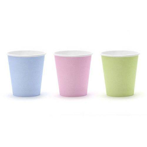 Party deco Kubeczki pastelove mix kolorów 200 ml [6 szt.] -.