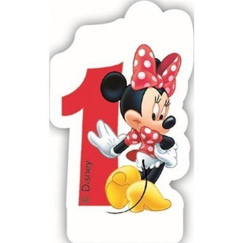 Świeczka cyferka Myszka Minnie Mouse - 1, SCMM/9202-1