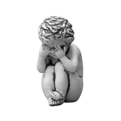 """Figura ogrodowa betonowa dziecko """"nic nie widziałem"""" 19cm"""