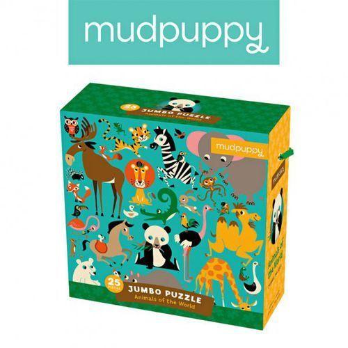 puzzle podłogowe jumbo zwierzęta świata 25 elementów 2+ marki Mudpuppy