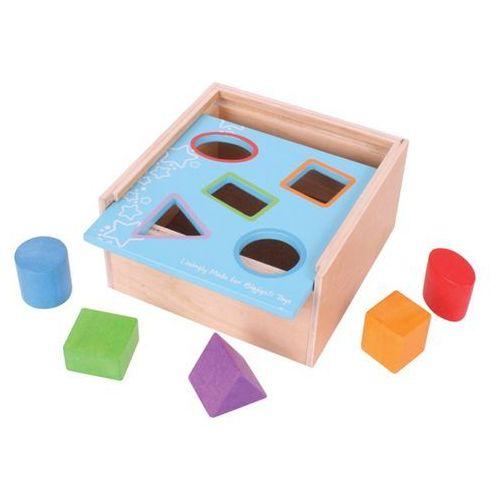 Skrzynia z figurami geometrycznymi - sorter do zabawy dla dzieci