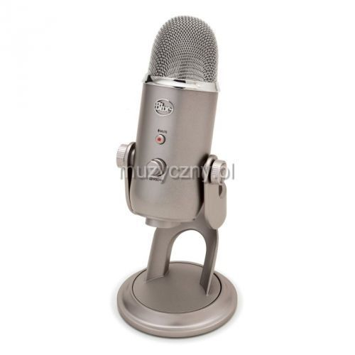 Blue Microphones Yeti Platinum mikrofon pojemnościowy USB, wyjście słuchawkowe, kolor platinum