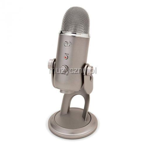 yeti platinum mikrofon pojemnościowy usb, wyjście słuchawkowe, kolor platinum marki Blue microphones