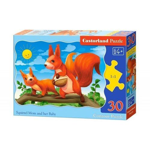 Castorland Puzzle 30 konturowe:squirrel mom and her baby - castor