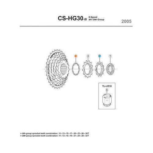 Podkładka dystansowa do kasety 7 rzędowej Shimano CSHG30I7/CSHG50-7 (1,0mm)