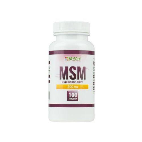 Tabletki MSM Metylosulfonylometan 500 mg, 100 tabletek, MyVita - Suplement diety