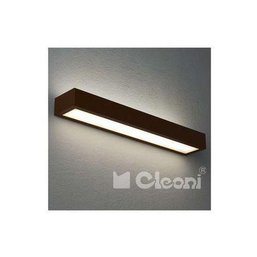 Cleoni Kinkiet lampa ścienna noble 1147k62+kolor prostokątna oprawa belka (1000000411683)