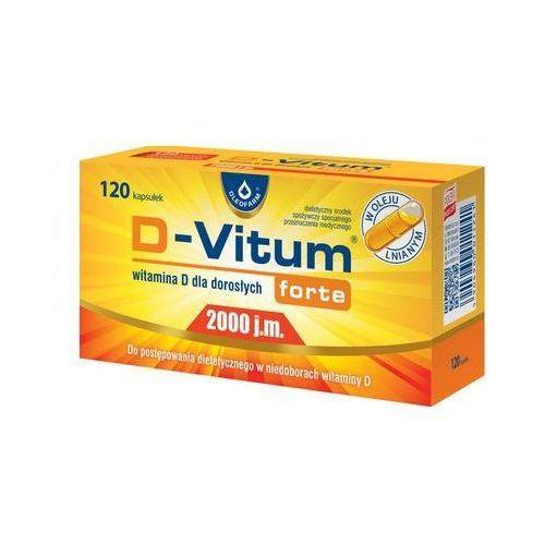 Kapsułki D-Vitum Forte® 2000 j.m Witamina D - 120 kaps. Najniższe ceny, najlepsze promocje w sklepach, opinie.