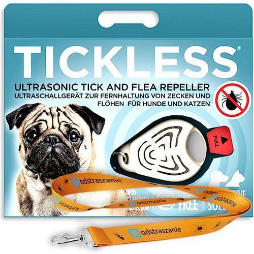 Odstraszacz kleszczy dla psów. Tickless Pet na kleszcze dla psa. Beżowy. (5999566451010)
