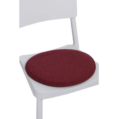 Poduszka na krzesło okrągła czer. melanż