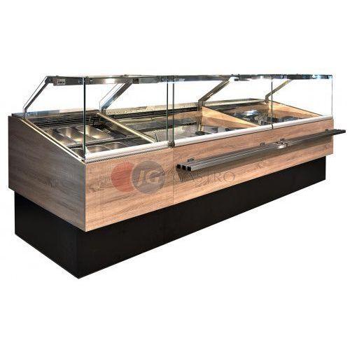 Lada/witryna cukiernicza neutralna Capri 900x900x1200 h Juka CP 90/NE/DZ, CP 90/NE/DZ