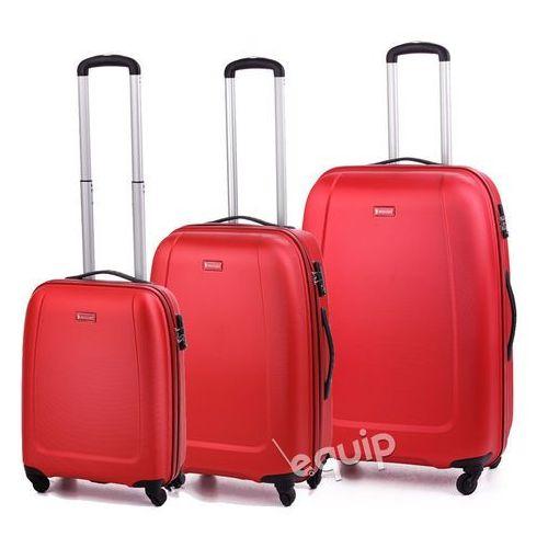 Puccini Zestaw walizek  abs01 - czerwony