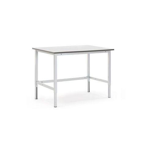 Stół roboczy motion, z ręczną regulacją wysokości, 400 kg, 1200x800 mm, szary marki Aj produkty