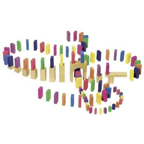 Kamienne klocki dla dzieci - Domino 106 szt