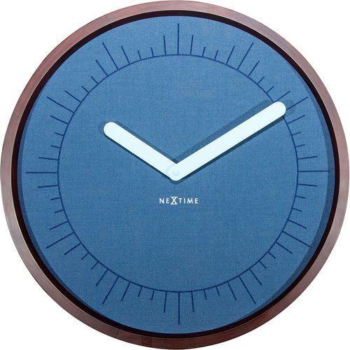 Nextime Zegar ścienny calmest index niebieski (3201) (8717713018735)