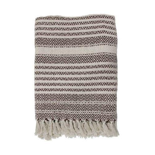 HK Living Narzuta z bawełny z brązowymi zigzag'ami (130x170) TTS1006 (8718921014663)
