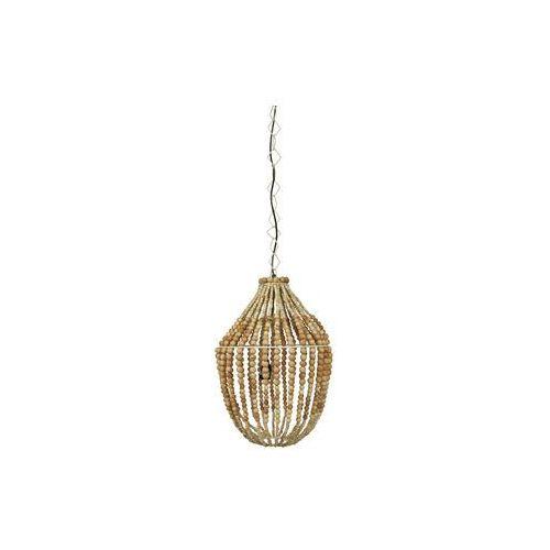 Be Pure Lampa wisząca duża żyrandol z drewnianych koralików - Be Pure 800551-N, kolor natural;natural