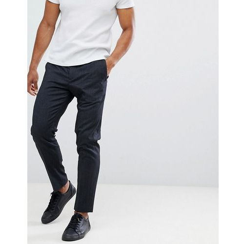 trouser with elasticated waistband in tapered fit - black marki Selected homme