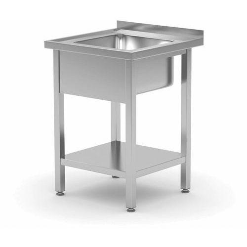 Stół ze zlewem z półką | komora 400x400x(H)250mm | szer: 600 - 700mm | gł: 600mm