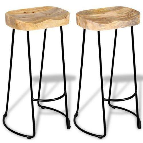 stołki barowe gavin z drewna mango, 2 szt. marki Vidaxl