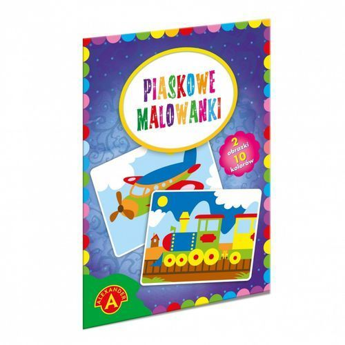 Piaskowe malowanki Pociąg samolot (5906018018813)