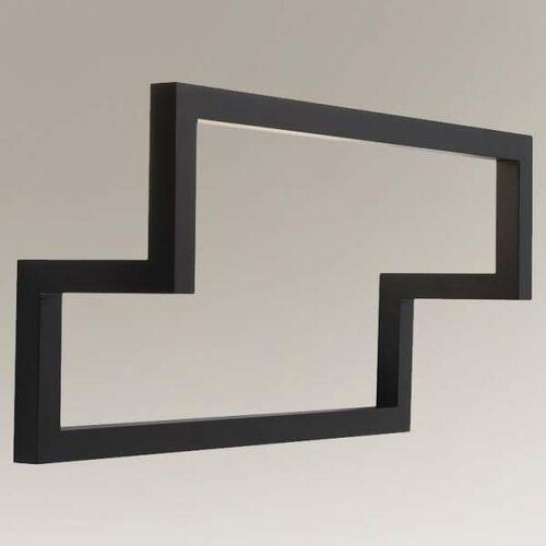 Designerska LAMPA kinkiet ZAOSU 7906 Shilo prostokątna OPRAWA metalowa rama sufitowa industrialna czarna (1000000609004)