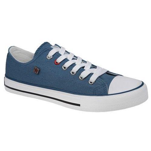 Kultowe trampki t274030 niebieskie - niebieski ||biały marki Big star