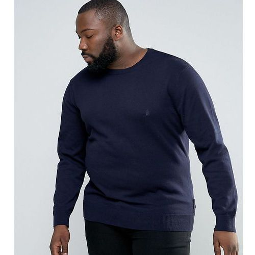 French connection plus lightweight crew neck jumper - navy