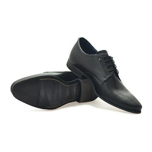 Duo men Pantofle 220 czarny lico