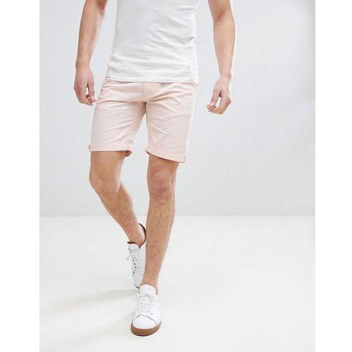 slim fit chino shorts in washed pink - pink, Bellfield