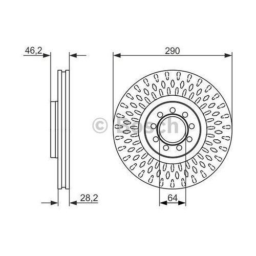 Bosch  tarcza hamulcowa; przednia, 0 986 479 718